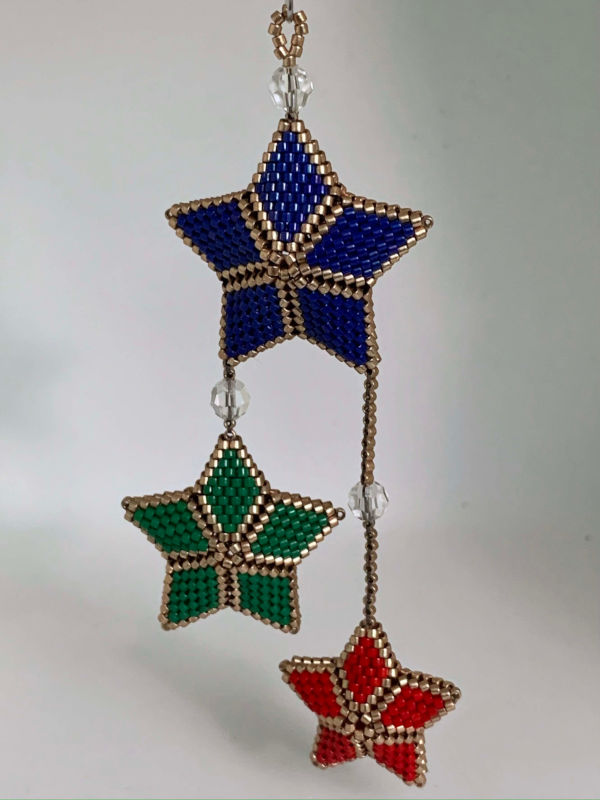 Three Star Christmas Ornament