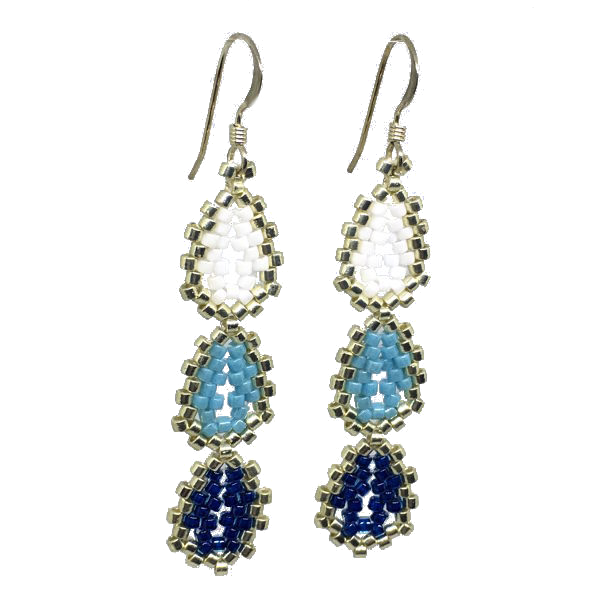 Shades of Blue Mini Oval Earrings