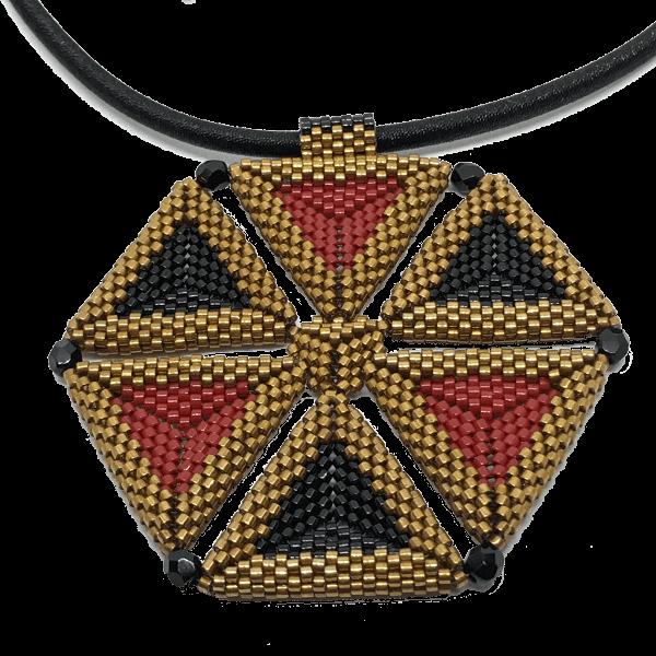 Hexagon of Triangles Pendant